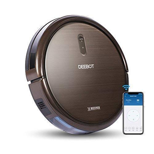 ECOVACS DEEBOT N79S Robotic Vacuum Cleaner with Max Power Suction, Up to 110 min Runtime, Hard Floors and Carpets, Works with Alexa, App Controls, Self-Charging, Quiet