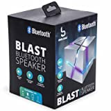 Bass Jaxx Bluetooth Blast LED Light Changing Mystery Cube Speaker Black
