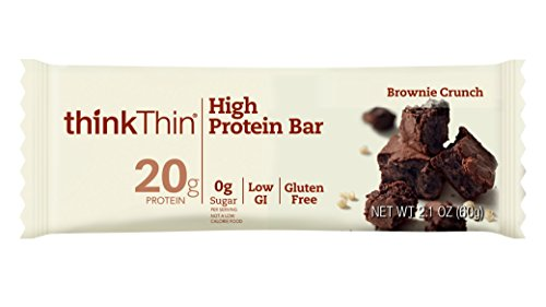 thinkThin High Protein Bars, Chunky Peanut Butter, 2.1 oz Bar (10 Count)