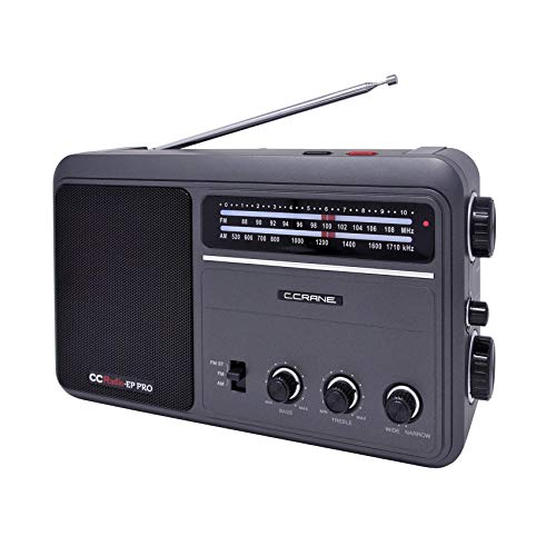 C. Crane CCRadio - EP PRO AM FM Battery Operated Portable Analog Radio with DSP