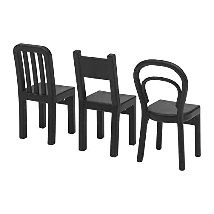 Ikea Fjantig Ganci A Forma Di Sedia Neri 12 X 6 Cm 3 Pezzi