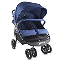 The Joovy ScooterX2 double stroller has a new stylish graphite grey frame and bigger wheels. The larger 7-inch front wheels and 9.5-inch rear wheels make it easier to maneuver than before. Its lightweight and narrow design allows the stroller to fit ...