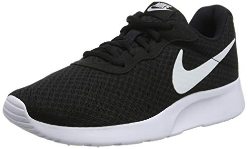 Nike Womens Tanjun Running Sneaker Black/White 10