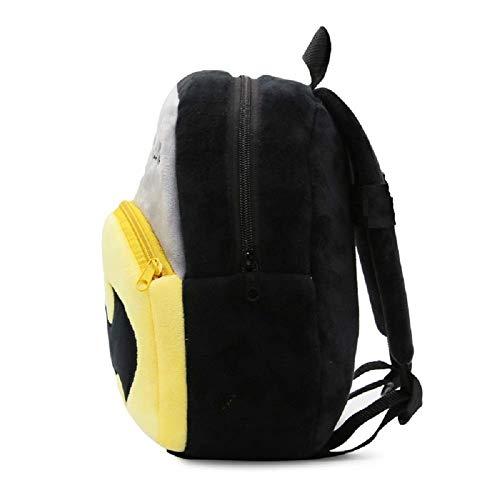 41FpOEVcNaL - Black Hill Cute Kids Backpack Toddler Bag Plush Animal Cartoon Mini Travel Bag for Baby Girl Boy 1-6 Years (Batman)
