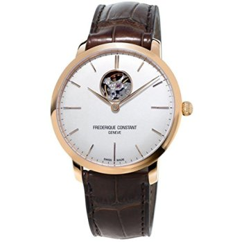 FREDERIQUE CONSTANT MEN'S SLIMLINE 40MM BROWN AUTOMATIC WATCH FC-312V4S4