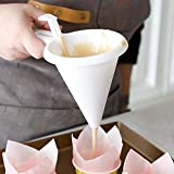 DIY Convenient Chocolate Candy Batter Funnel Mold White Food-grade Plastic Kitchen & Home Pancake Cream Dispenser