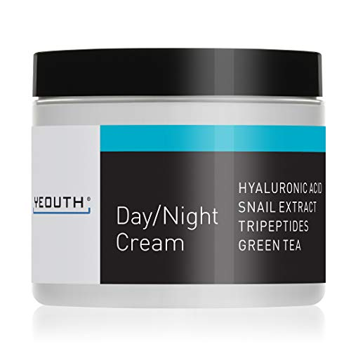 YEOUTH Day Night Moisturizer for Face with Snail Extract, Hyaluronic Acid, Green Tea, and Peptides, Anti Aging Day Cream or Night Cream Moisturizer for Dry Skin, 4 oz ... (4oz)