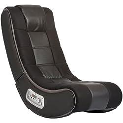 V Rocker 5130301 SE Video Gaming Chair, Wireless, Black with Grey