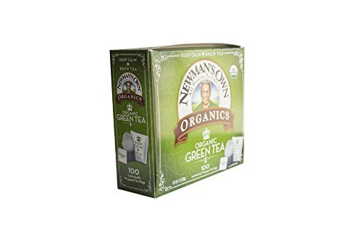Newmans Own Organics Royal Tea, Organic Green Tea, 100-Count Individually Wrapped Tea Bags 1