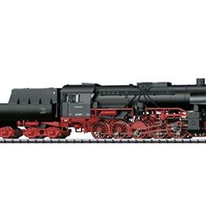 CLASS 42 2-10-0 TUB-STYLE TENDER W/SOUND & DCC/SX — GERMAN FEDERAL RAILROAD DB #42 1417 (ERA III 1950, BLACK, RED) 41FypCL4eML