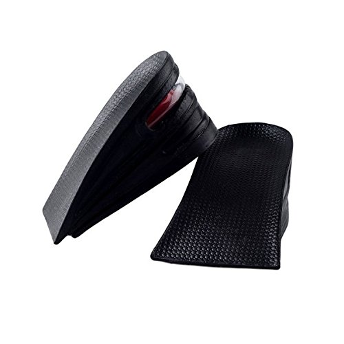 SINY 3-Layer Shoe Insoles Height Increase Taller Pad Air Cushion for Men Women Black  6cm 2.5 inches