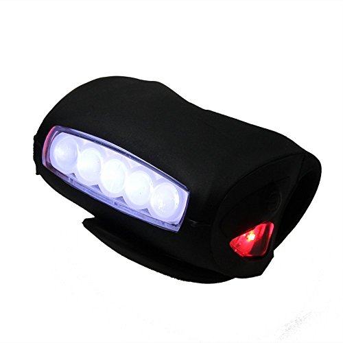 KneeRover 7 LED Safety Head Light Silicone Super Bright Flashlight Taillight Lamp for Knee Walkers Knee Scooters Rollators Rolling Walkers and Wheelchairs