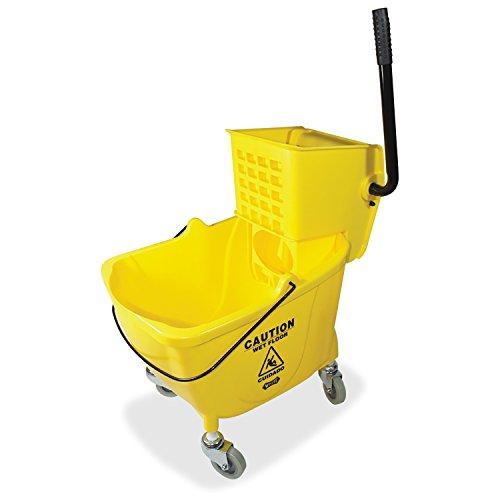 Genuine Joe GJO02347 Side Press Wringer Mop Bucket, Yellow
