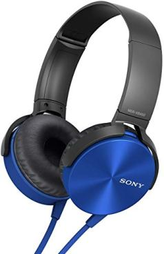 Sony MDR-XB450 On-Ear EXTRA BASS Headphones (Blue)