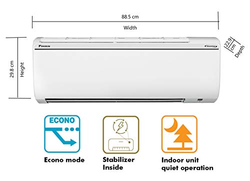 41GCjMgFomL - Daikin 1.5 Ton 5 Star Inverter Split AC (Copper FTKG50TV White)