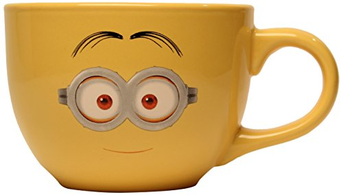 Silver Buffalo DM8124 Despicable Me One-Eyed Minion Ceramic Soup Mug, 24-Ounces