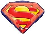 1 XXL 31' foil party BALLOON new SUPERMAN EMBLEM 'S' birthday GIFT decor FAVORS vhtf