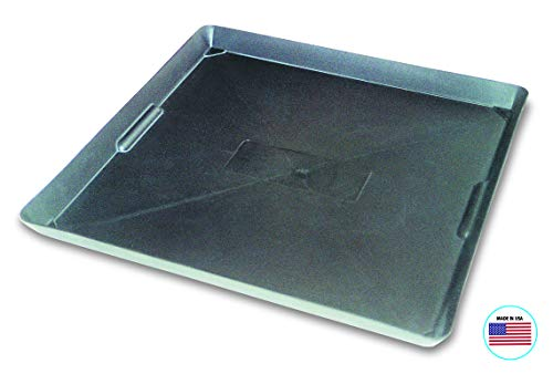 WirthCo 40092 Funnel King Drip Tray – Black Plastic 22 x 22 x 1.5 Inches – Perfect for Catching Spills or Leaks from