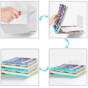 STORAGE-MANIAC-White-Invisible-Floating-Bookshelves-Heavy-Duty-Book-Organizers-3-Pack-Extra-Large
