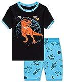 Family Feeling Little Boys Space Pajamas Short Sets 100% Cotton Toddler Kid 2T
