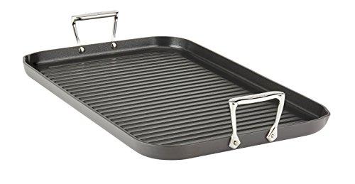 All-Clad E7954164 HA1 Hard Anodized Nonstick Dishwasher Safe PFOA Free Grande Grill Cookware, 13-Inch by 20-Inch, Black