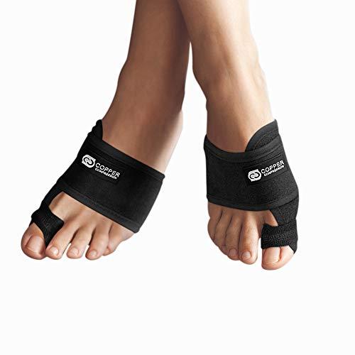 Copper Compression Bunion Corrector Toe Splints. Bunion Relief Brace and Toe Straightener. Big Toe, Hammer Toes Splint for Men Women. 1 Pair. Bunions Support, Hallux Valgus Treatment, Feet (One Size)