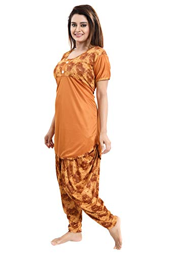 Tucute Top and Dhoti Style Bottom Night Suit/Nightdress for Women and Girls (Size: L/XL/XXL) 3