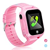 Kids Smartwatch Kids Smart Watch Phone with Waterproof and App Remote Control Unlocked Kids SmartWatches Phone with Voice Chat Touch Screen Camera Compatible with Android and iOS (Pink)
