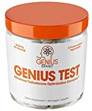 GENIUS TEST - The Smart Testosterone Booster For Men   Natural Energy Supplement, Brain & Libido Support, Fat Loss   Muscle Builder with KSM-66 Ashwagandha, Shilajit and Tongkat Ali, 120 Veggie Pills