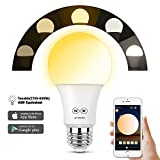 Zombber Smart Bluetooth Mesh LED Light Bulb, Tunable White Lamp,No Hub Required, App Group Controlled, Party Disco Color Changing, E27 40W Equivalent Night Light,Works with iOS Android