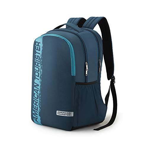 41Gk5jFT1%2BL - American Tourister Spin 49 cms Teal Laptop Backpack (FS0 (0) 11 001)