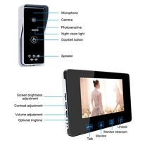 Wired-Video-Doorbell-Phone-Intercom-System-7-inch-Color-Monitor-and-Push-Button-Camera-Video-Doorbell-Kits-Support-Unlock-MonitoringIR-Night-Vision-Camera-for-Home-Office