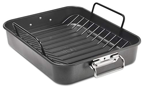 KitchenAid KB2NSO16RP Aluminized Steel Roaster Pan, 16 Inch,