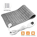 Heating Pad,Electric Heating Pad 12'x24' Large Heating Pads for Back Pain Heat Pad Moist Heating Pad with Timer,6 Temperature Settings Heated Pad for Neck,Shoulder,Elbow,Machine Washable