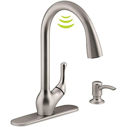 Kohler K-R78035-SD-VS Barossa with Response Touchless Technology  Single-Handle Pull-Down Sprayer Kitchen Faucet in Vibrant Stainless |  Trusted E Blogs