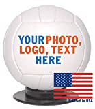 Custom Personalized Mini Volleyball - 6 Inch Mini Sized Volley Ball - Ships in 3 Business Days, High Resolution Photos, Logos & Text on Volleyballs - for Trophies, Personalized Gifts