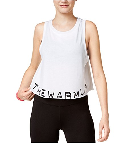 Jessica Simpson Womens Warm Up Crop Tank Top, White, Large