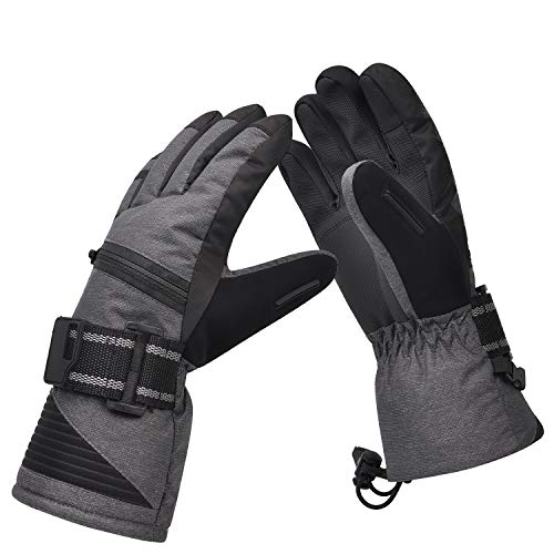 Ski Gloves, Winter Warm 3M Insulation Waterproof Snow Gloves for Skiing, Snowboarding, Motorcycling,Cycling, Outdoor Sports, Gifts for Men, Size Run Small