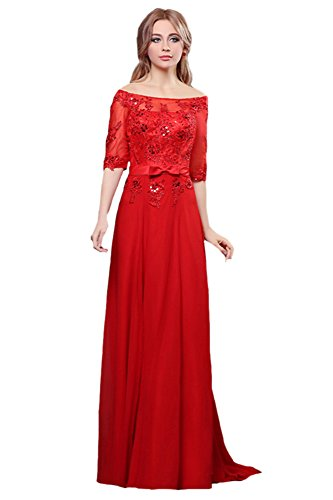 Evening Dresses Short Sleeve Shoulder Bridal