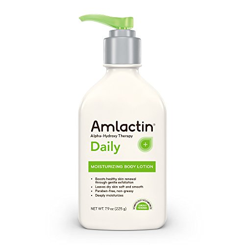 AmLactin Daily Moisturizing Body Lotion | Instantly Hydrates, Relieves Roughness | Powerful Alpha-Hydroxy Therapy Gently Exfoliates | Smooths Rough, Dry Skin | Paraben-Free 7.9 oz.