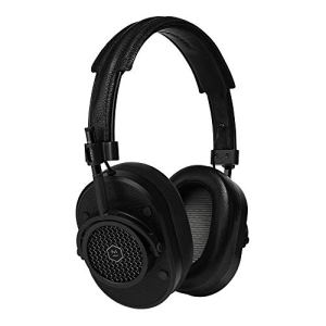 Master & Dynamic MH40 Premium Over-Ear Headphones, Award-Winning Closed-Back Wired Headphones with Superior Sound Quality, Black Metal/Black Leather