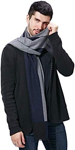 FULLRON Men Winter Cashmere Scarf Soft Warm – Long Cotton Scarves