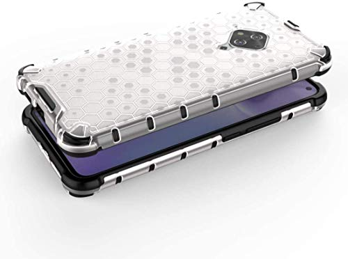 Cassby Shock Proof Dual Layer Hybrid Armor Back Cover Case with Honeycomb Pattern for Vivo S1 Pro - Transparent 5
