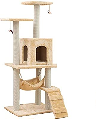 Cat Climbing Tree Tower Condo Scratcher Furniture Kitten House Hammock With Scratching Post And Toys For Cats Kittens Playhouse Buy Online At Best Price In Uae Amazon Ae