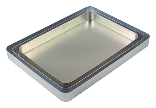 "41H1cmQTBvL - JAYCO Aluminum Trays, (12""-13""-14""), 3 Pc Set, Silver"