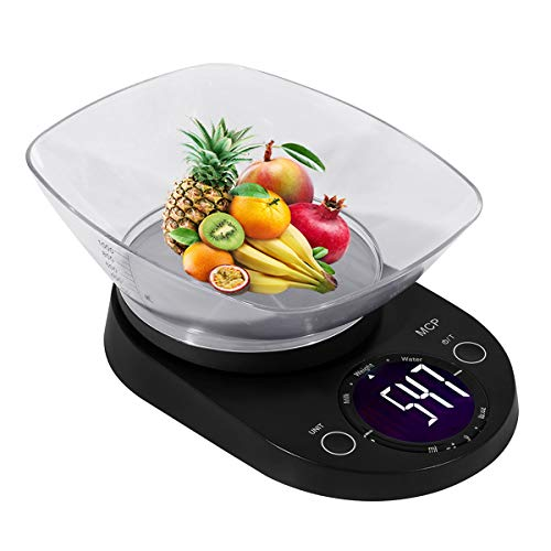 41H1kNW 90L - MCP Weighing Scale Digital for Kitchen Stainless Steel Household Electronic Food Weight Machine Kitchen Scale 5 kgs with Free Bowl