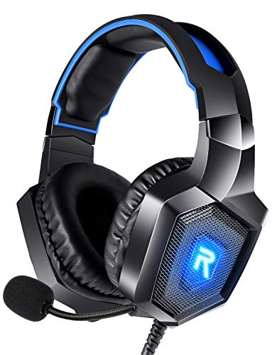 RUNMUS Gaming Headset PS4 Headset with 7.1 Surround Sound, Xbox One Headset...