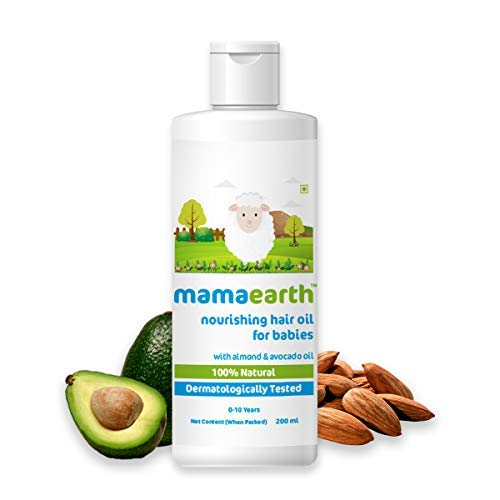 Mamaearth Nourishing Child Hair Oil, with Almond & Avocado Oil - 200 ml