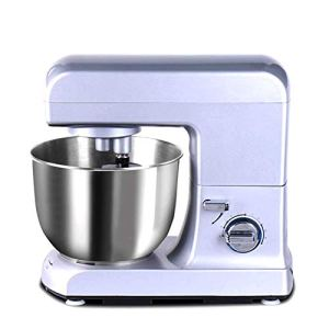 WJSW Food Mixer,1000W Stand Mixer 5L Bowl 9-Speed Tilt-Head Electric Cake Mixer Kitchen Robot Commercial Multi-Function Chef Machine Dough Hook & Whisk 41HBdv3hQiL