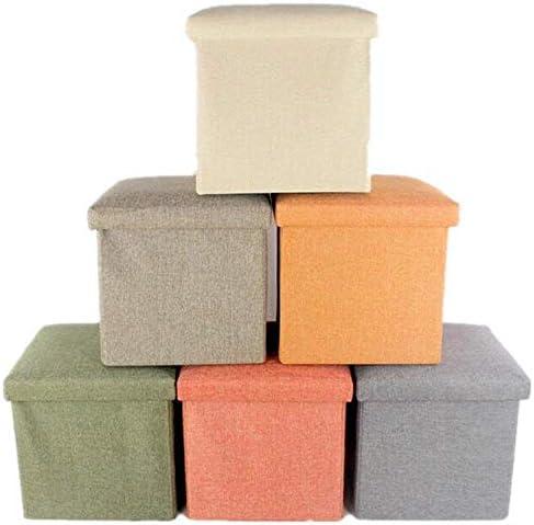 ASUVI Living Room Foldable Storage Bins Box Ottoman Bench Storage Box Cum Stool Container Organizer with Cushion Seat Lid, Cube Stool,Multi Colour(30 X 30 X 30 cm)
